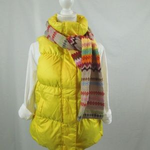 Gap Down Filled Puffer Vest Yellow Women L